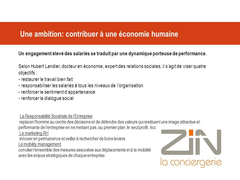 Une ambition: contribuer à une économie humaine