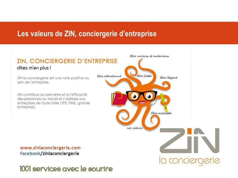 Les valeurs de ZIN, conciergerie d'entreprise