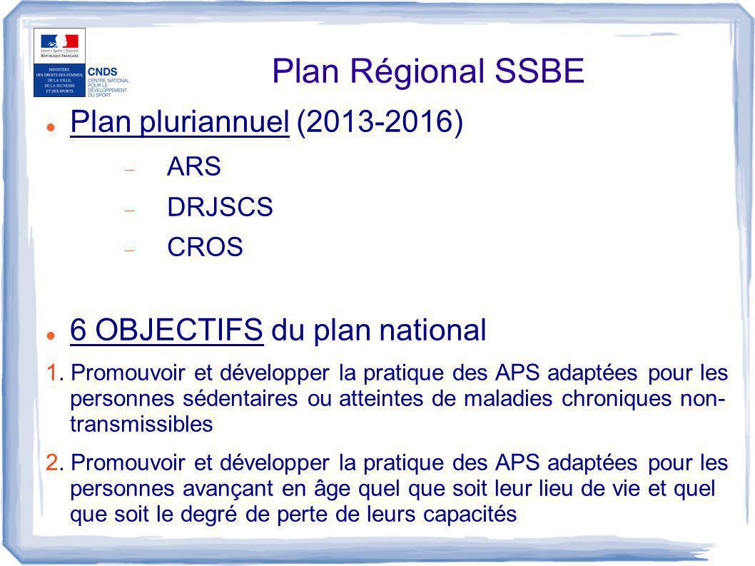 Plan Régional SSBE Plan pluriannuel (2013-2016)