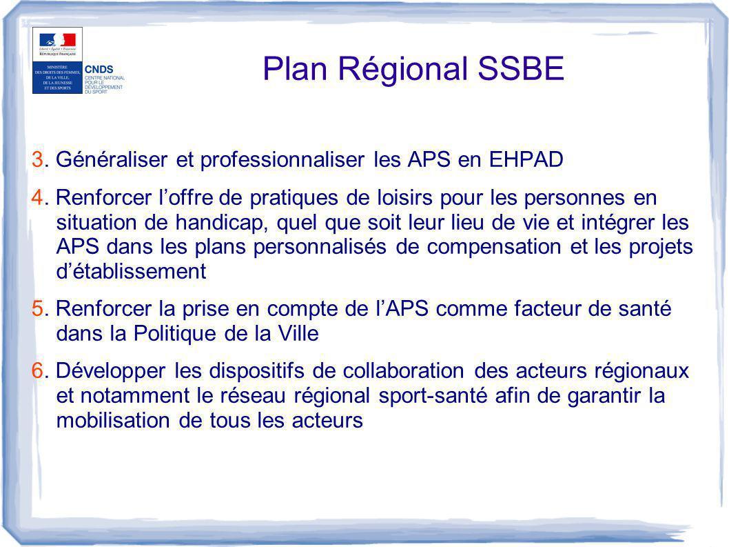 Plan Régional SSBE 3. Généraliser et professionnaliser les APS en EHPAD.