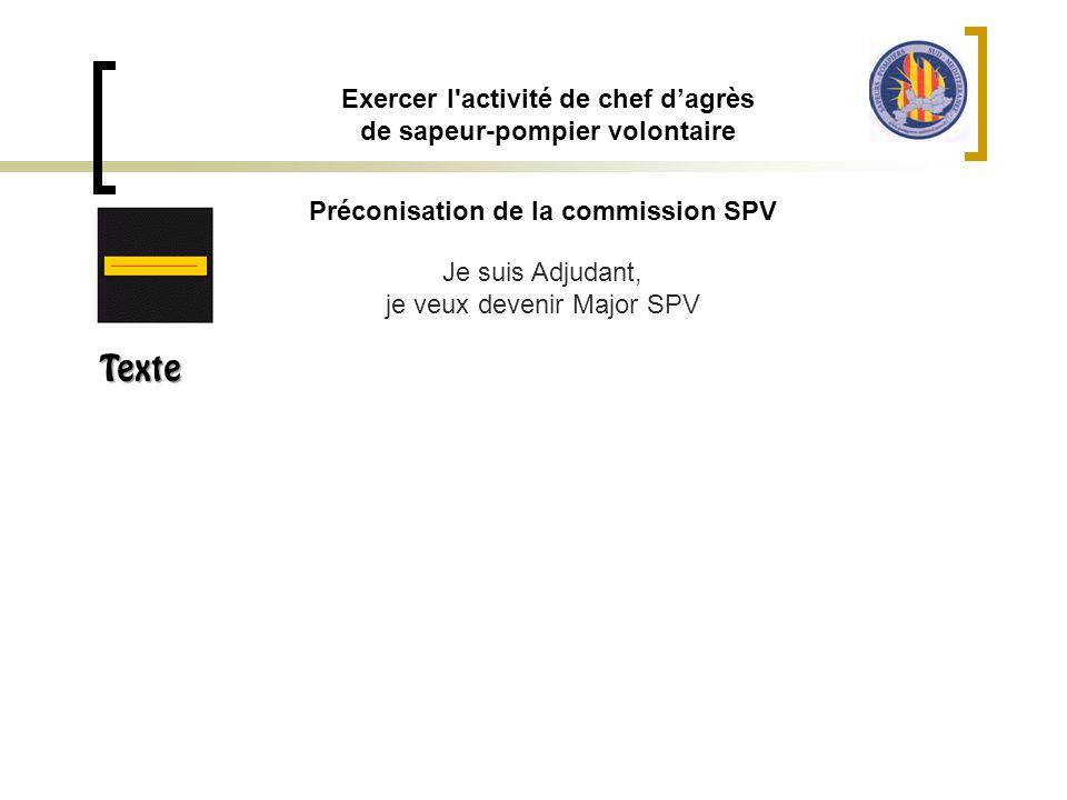Exercer l activité de chef d'agrès de sapeur-pompier volontaire