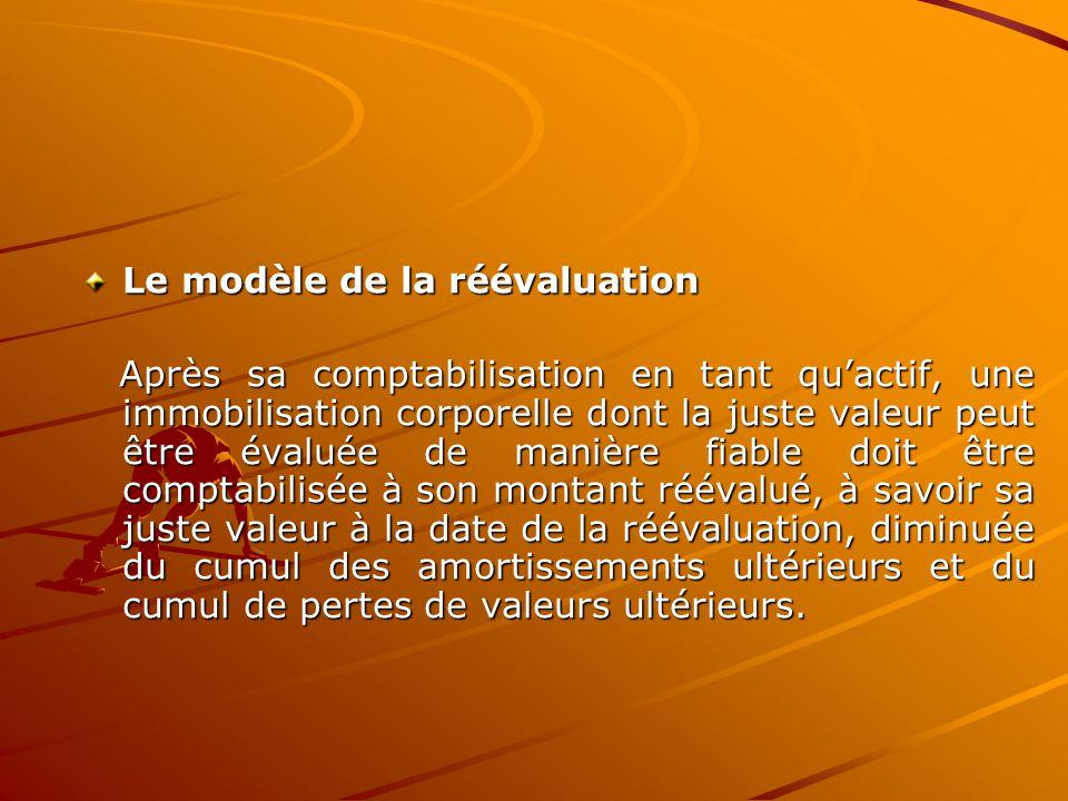Le modèle de la réévaluation