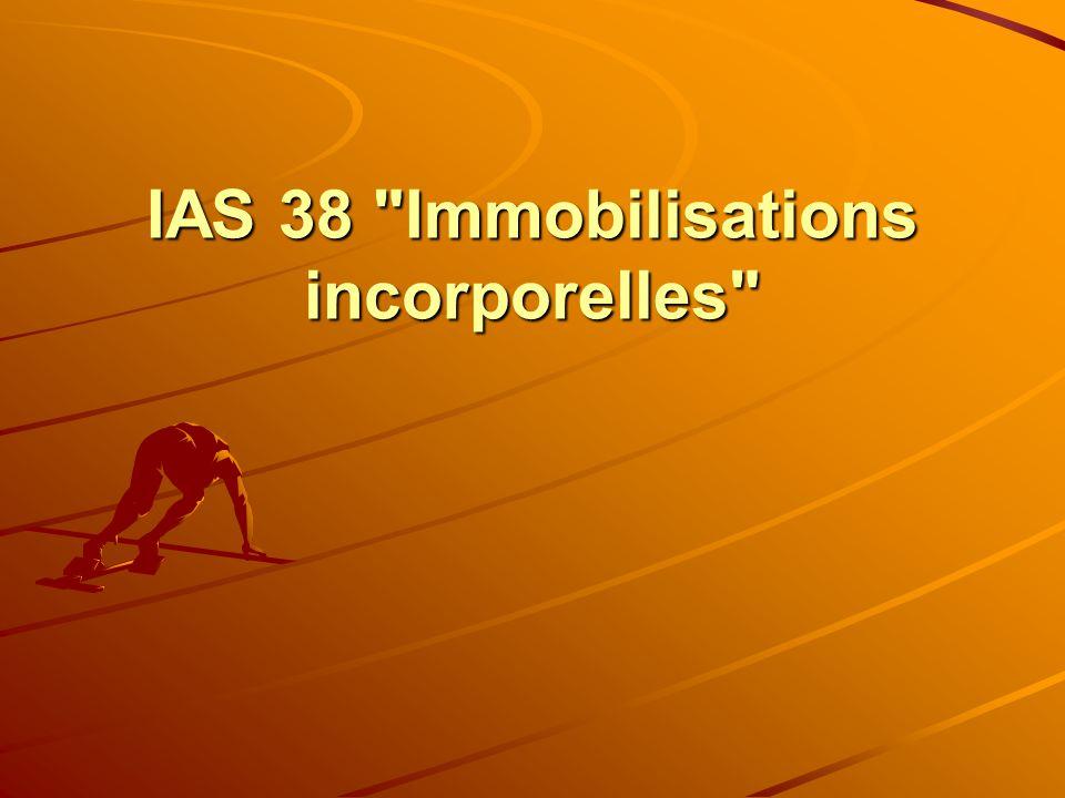 IAS 38 Immobilisations incorporelles