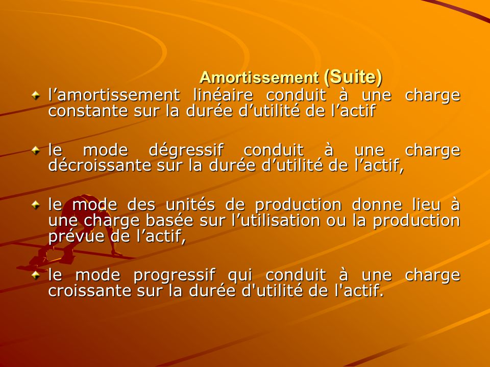 Amortissement (Suite)