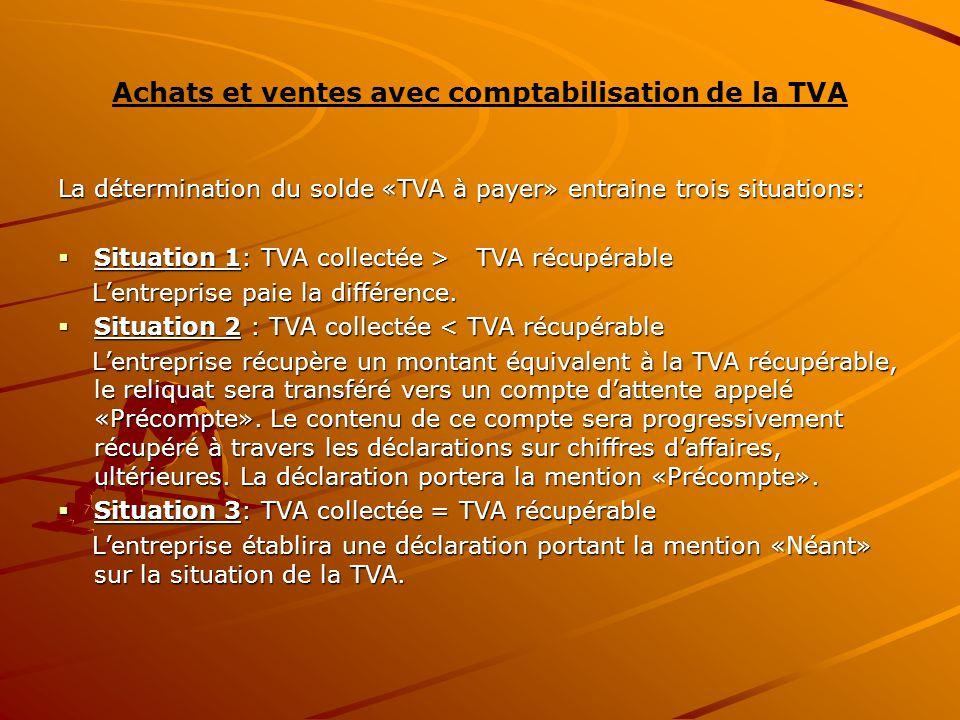 Achats et ventes avec comptabilisation de la TVA