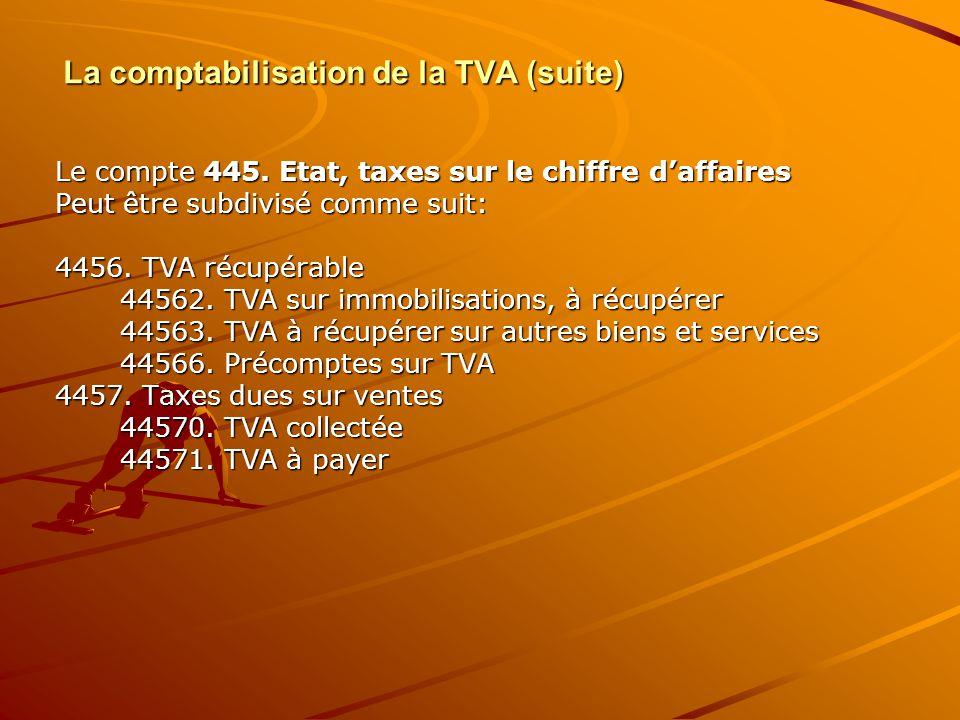 La comptabilisation de la TVA (suite)