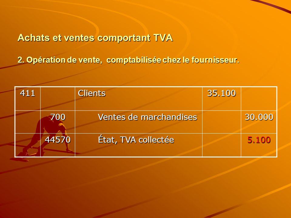Achats et ventes comportant TVA 2