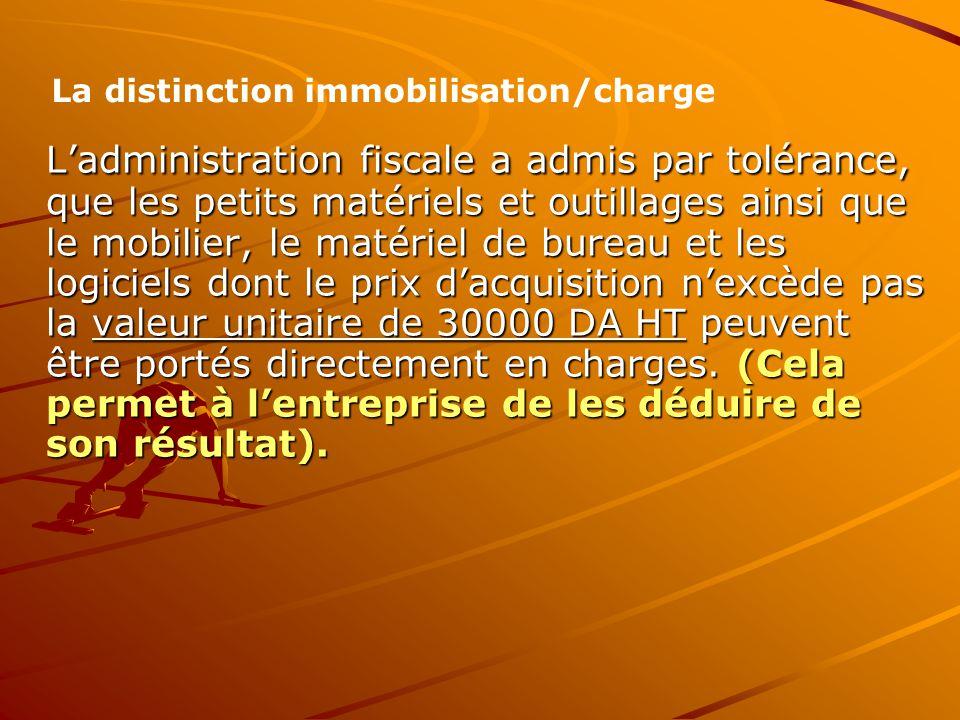 La distinction immobilisation/charge