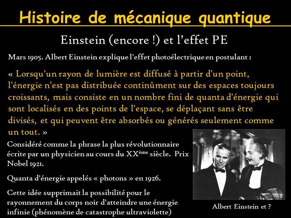 Histoire de mécanique quantique