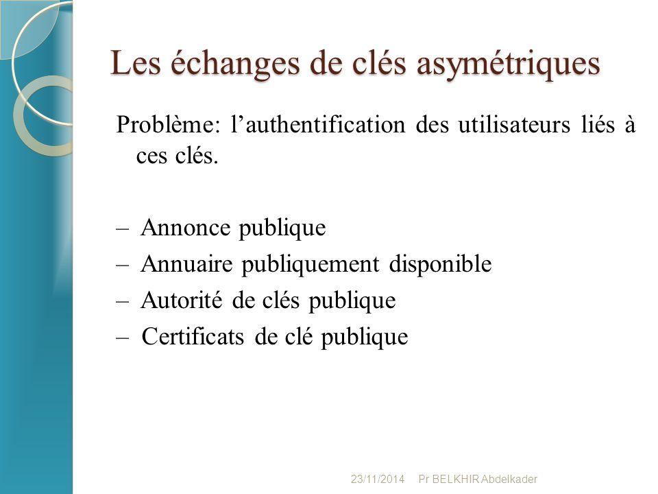 Les échanges de clés asymétriques