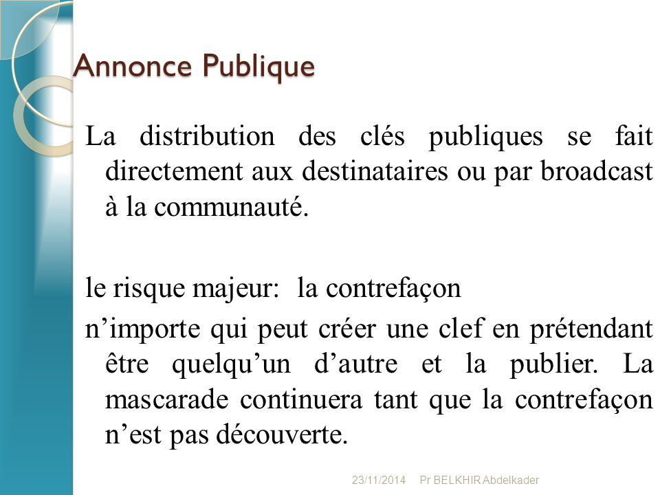 Annonce Publique