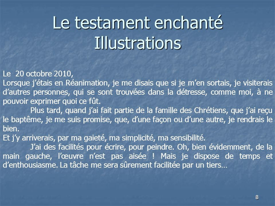Le testament enchanté Illustrations
