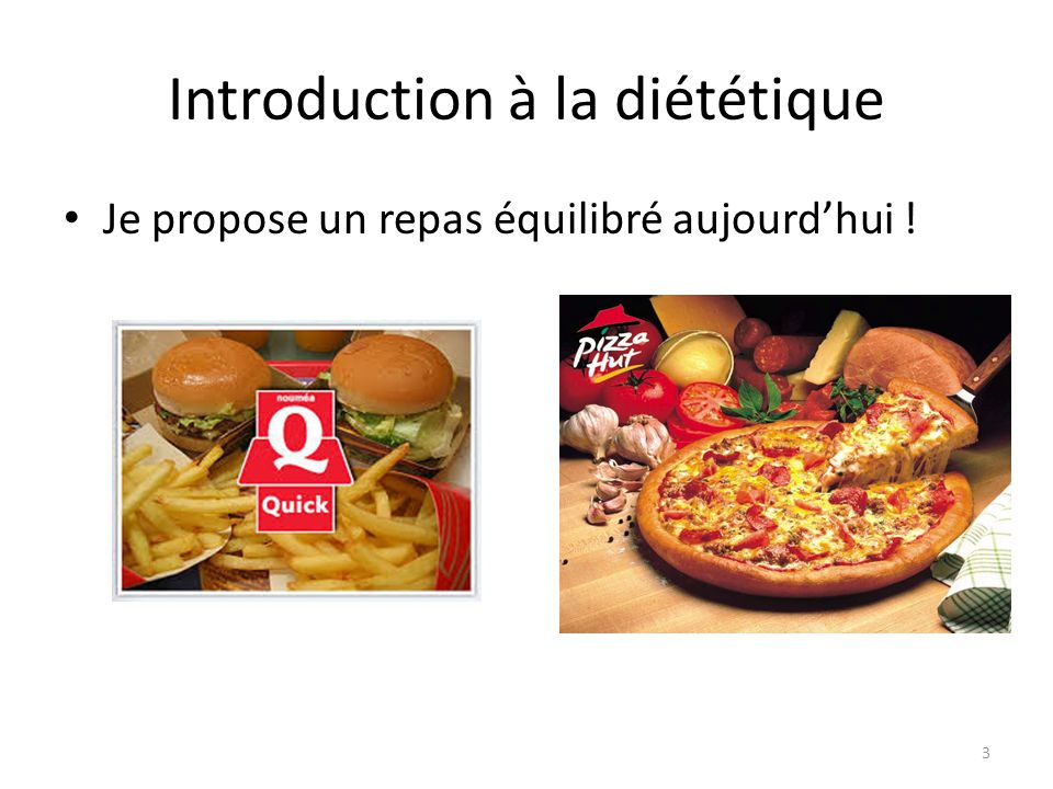 Introduction à la diététique