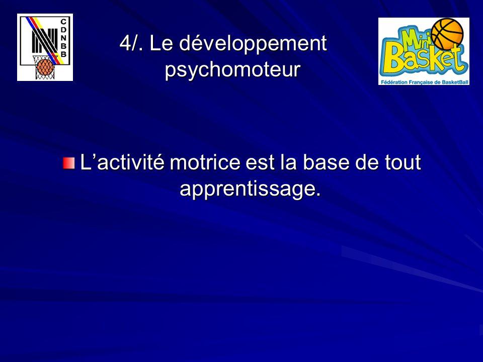 4/. Le développement psychomoteur