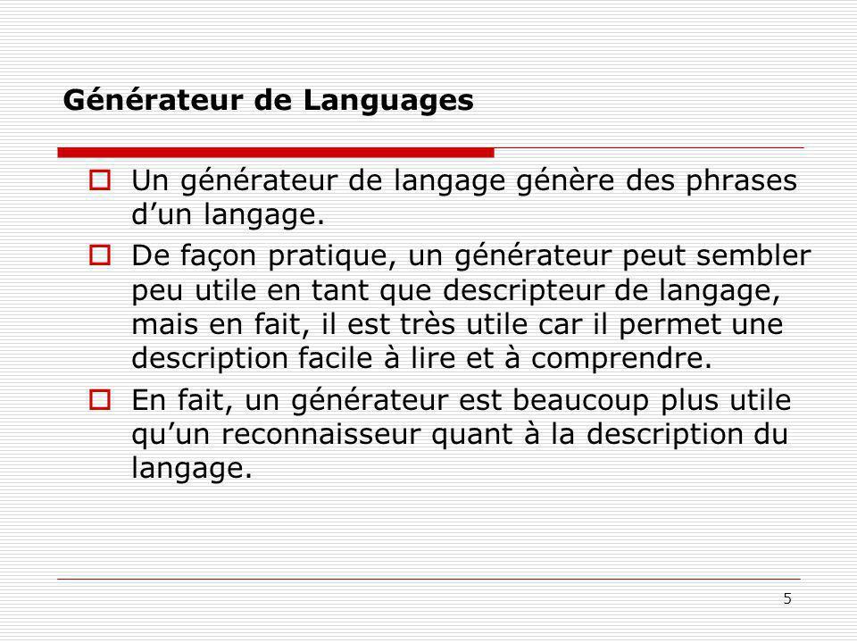 Générateur de Languages
