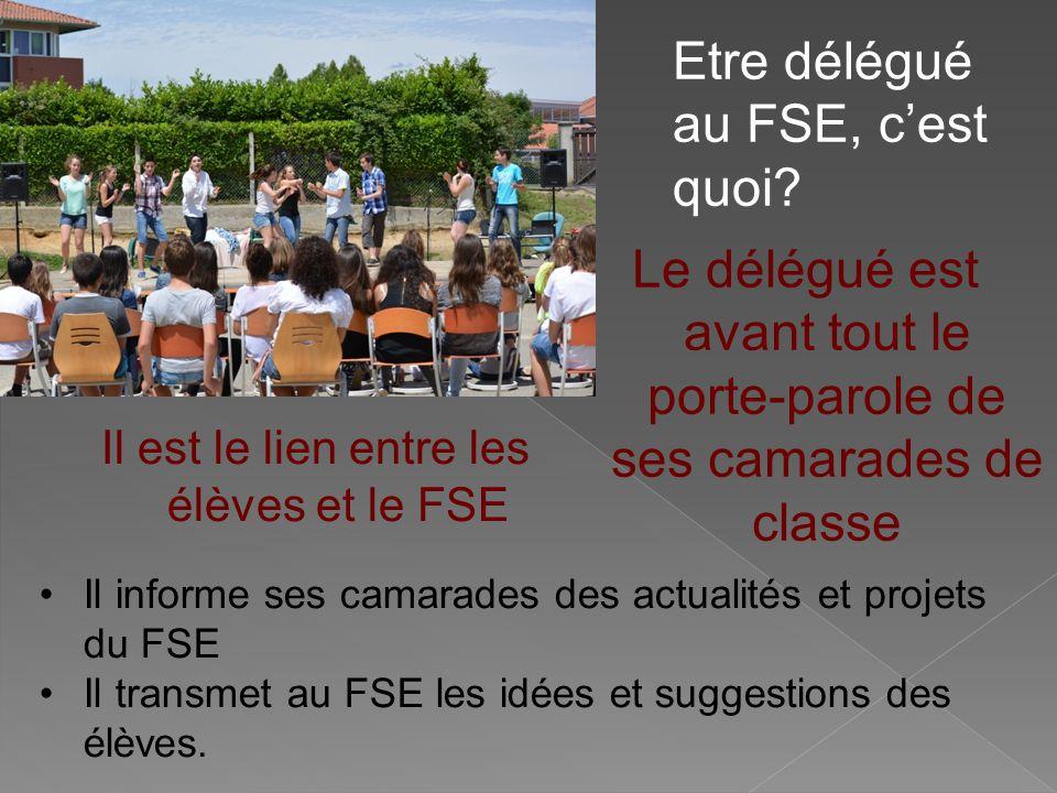 Etre délégué au FSE, c'est quoi