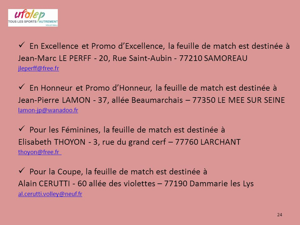 Jean-Marc LE PERFF - 20, Rue Saint-Aubin - 77210 SAMOREAU