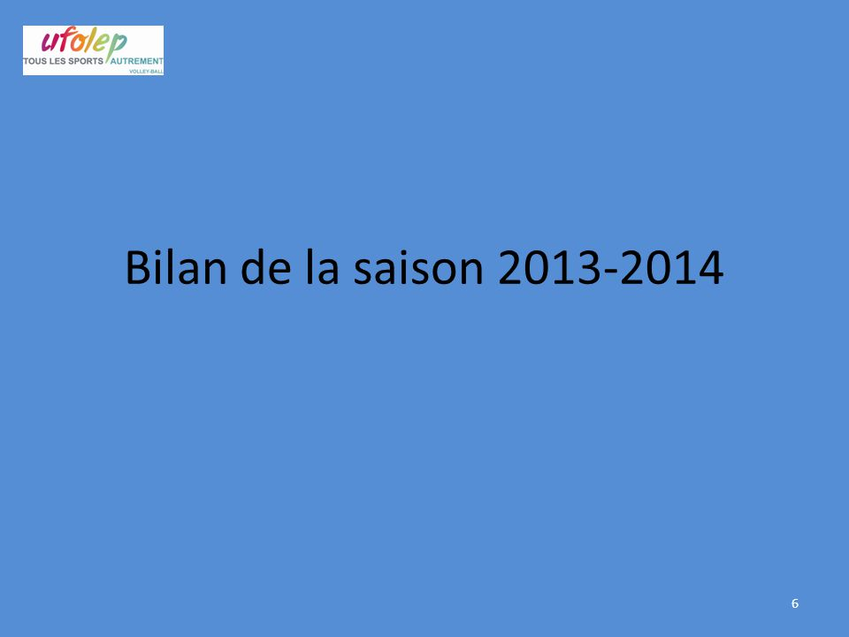 Bilan de la saison 2013-2014