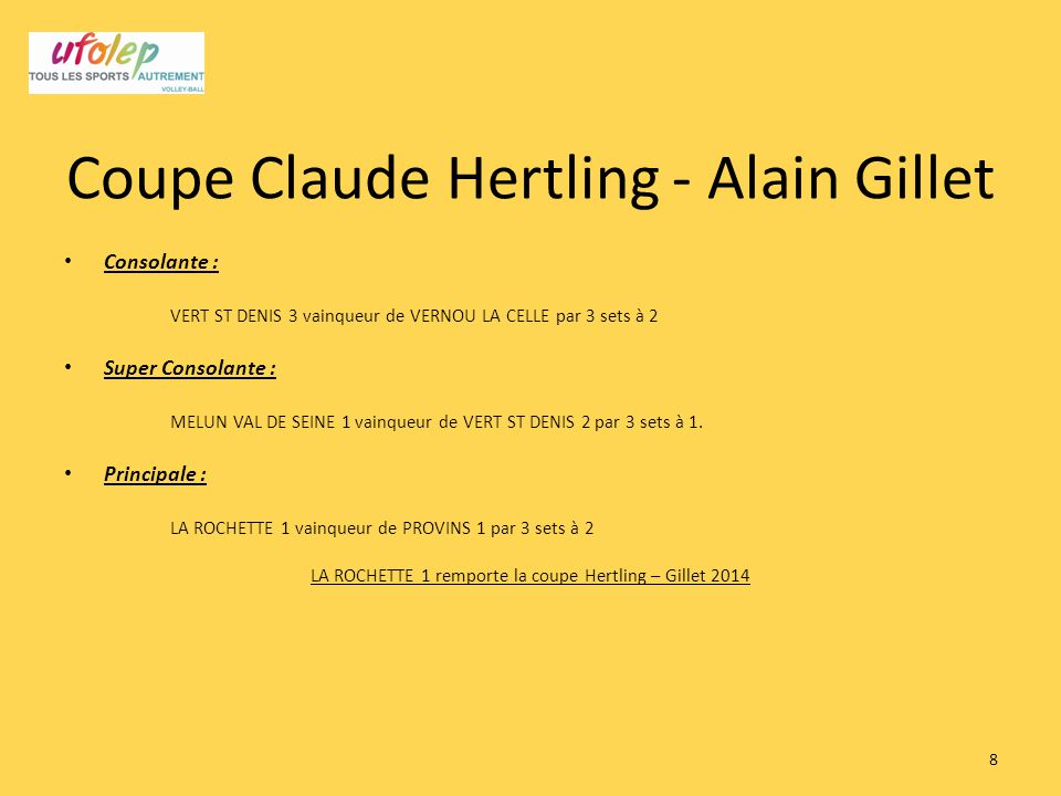 Coupe Claude Hertling - Alain Gillet