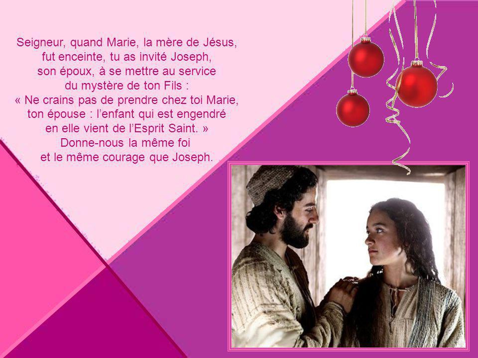 Seigneur, quand Marie, la mère de Jésus,