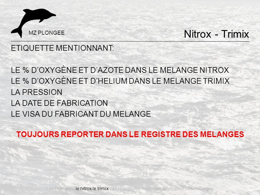 TOUJOURS REPORTER DANS LE REGISTRE DES MELANGES