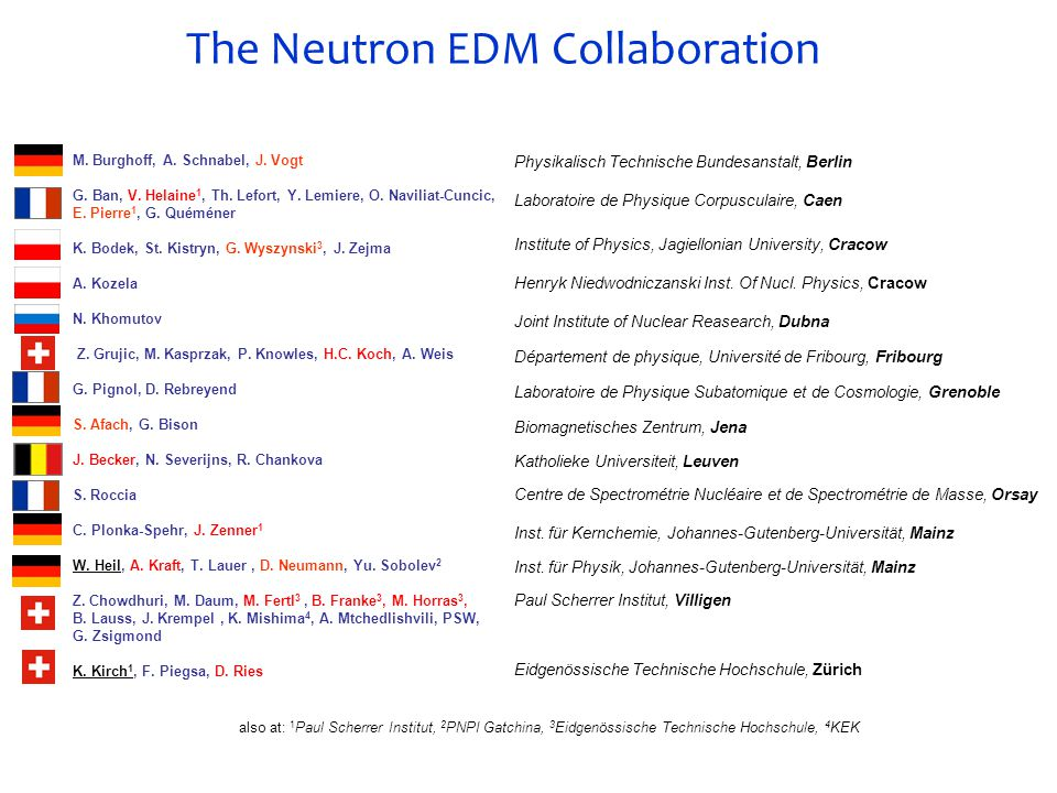 The Neutron EDM Collaboration