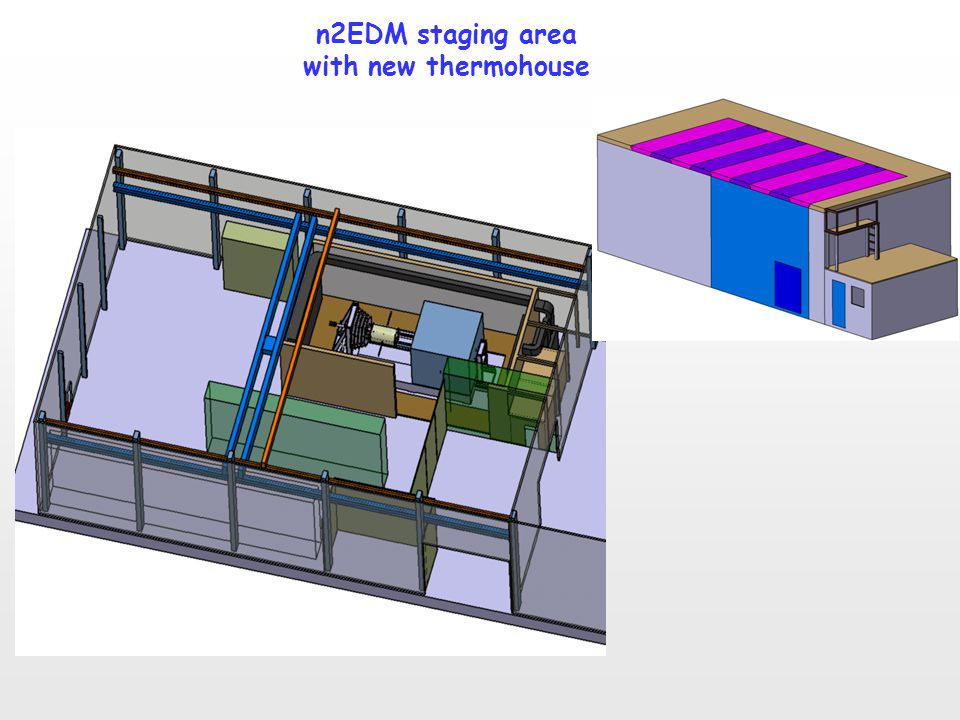n2EDM staging area with new thermohouse