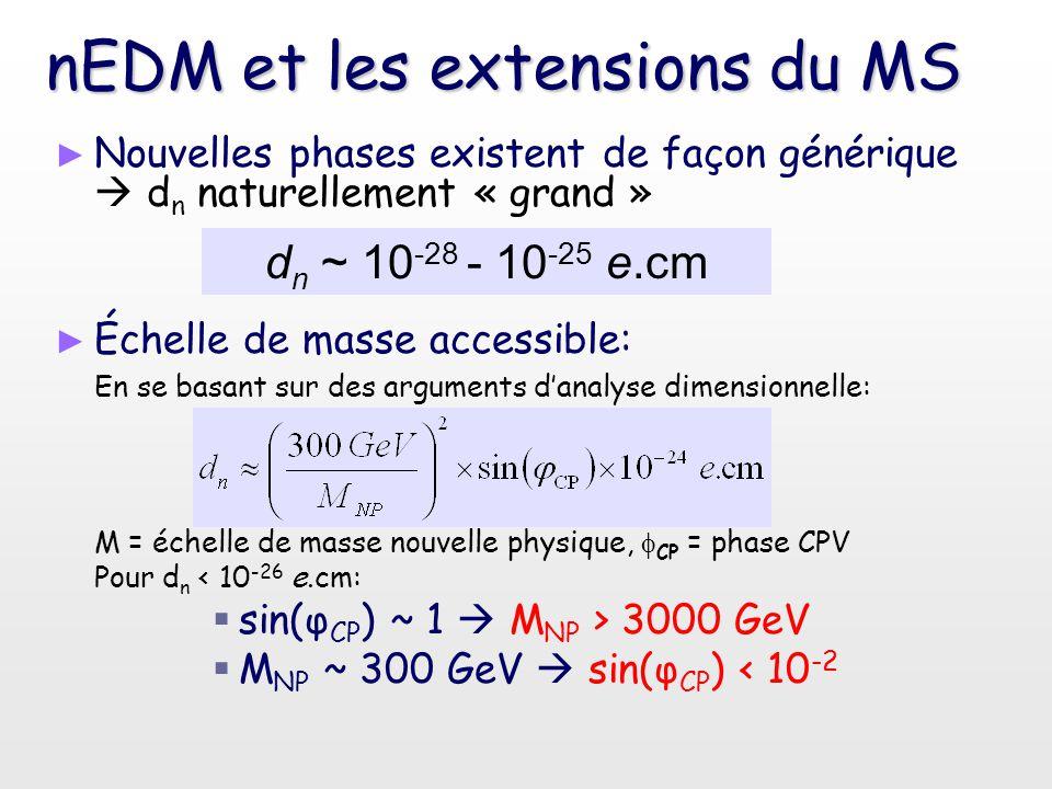 nEDM et les extensions du MS