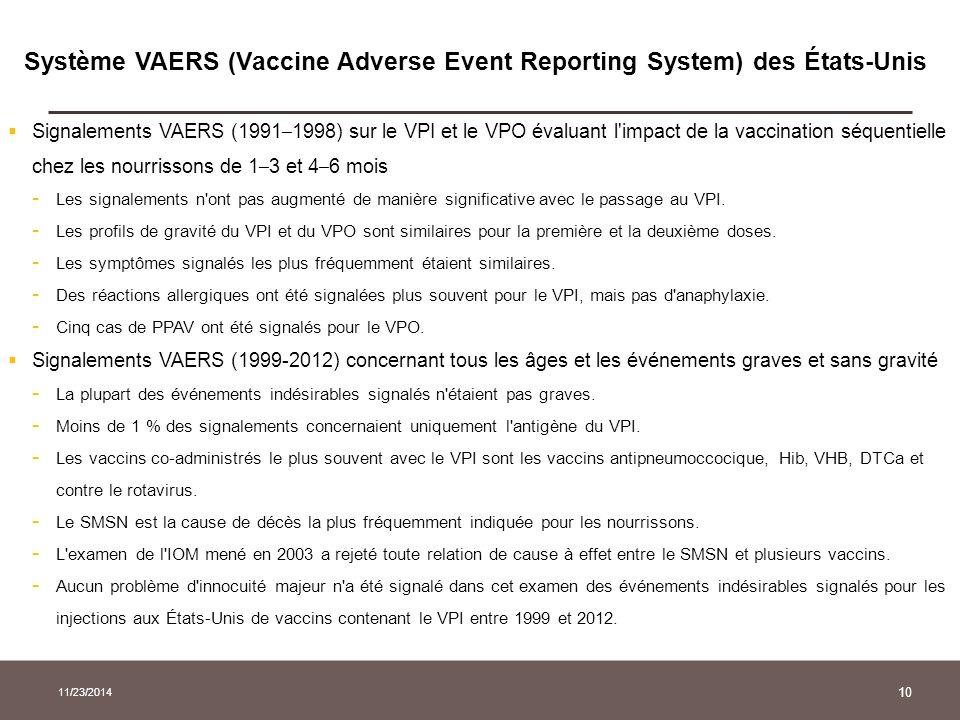 Système VAERS (Vaccine Adverse Event Reporting System) des États-Unis