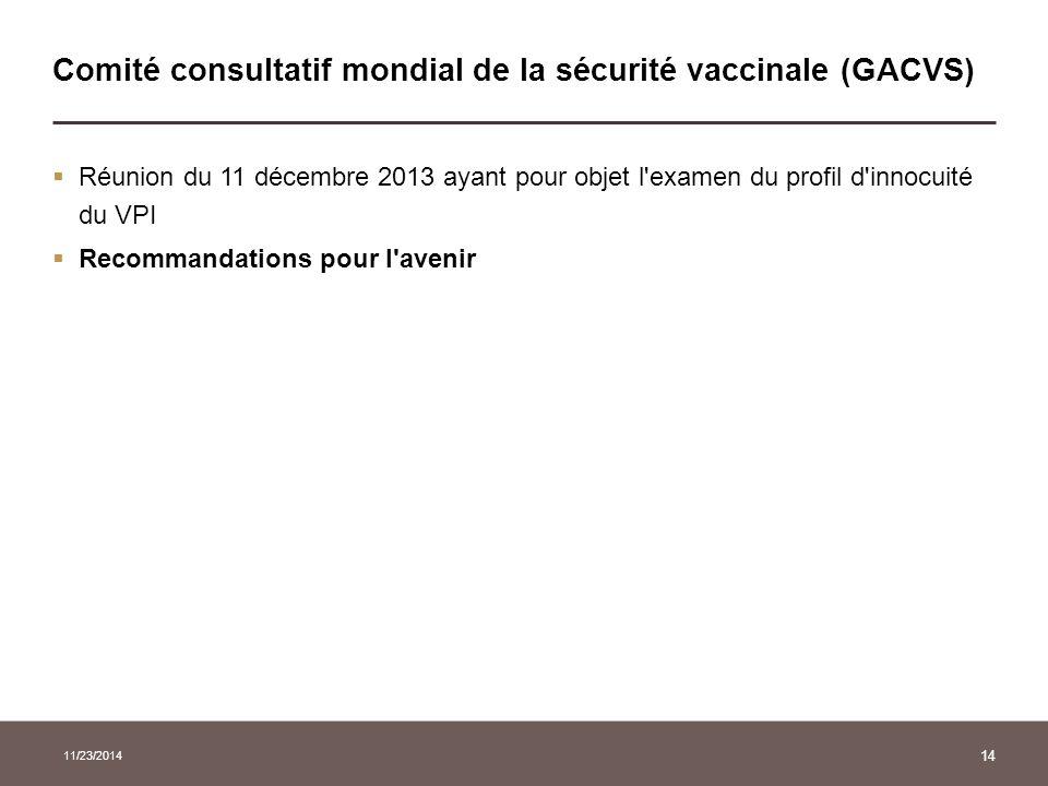 Comité consultatif mondial de la sécurité vaccinale (GACVS)