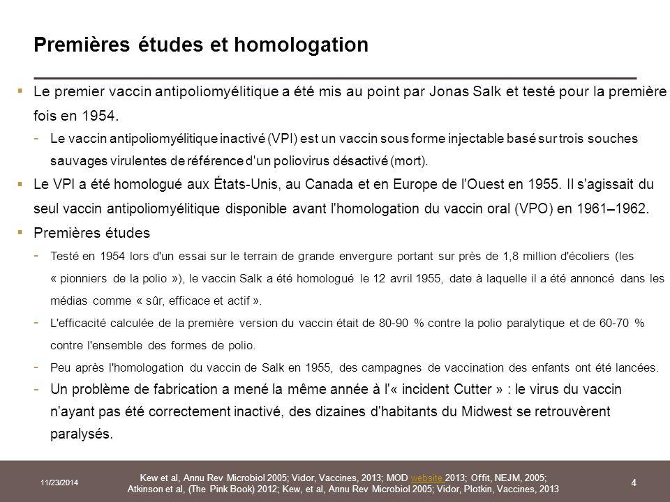 Premières études et homologation