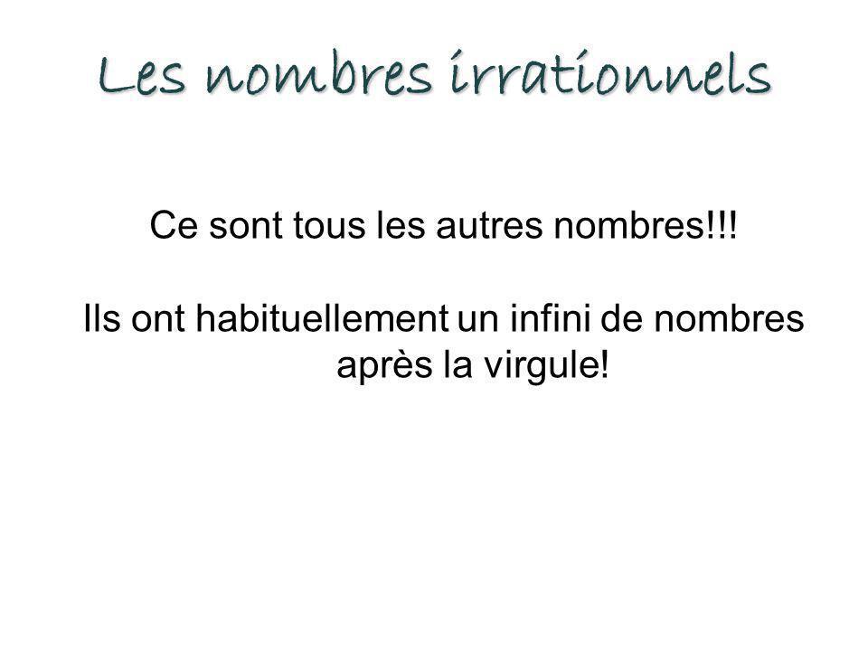 Les nombres irrationnels