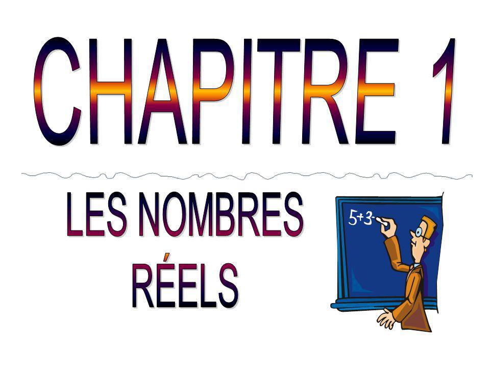 CHAPITRE 1 LES NOMBRES RÉELS