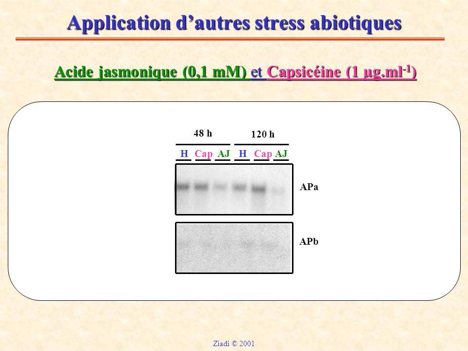 Application d'autres stress abiotiques
