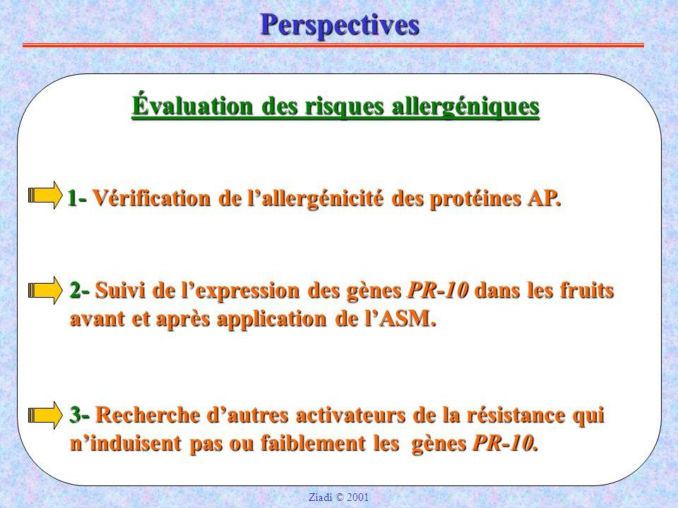 Perspectives Évaluation des risques allergéniques