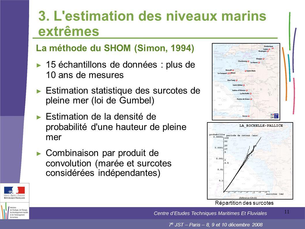 3. L estimation des niveaux marins extrêmes