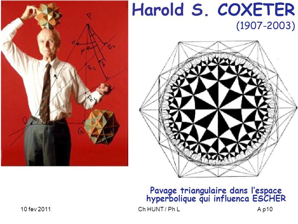 Pavage triangulaire dans l'espace hyperbolique qui influenca ESCHER