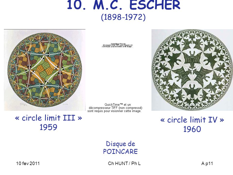 10. M.C. ESCHER (1898-1972) « circle limit III » 1959
