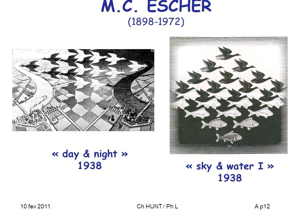 M.C. ESCHER (1898-1972) « day & night » 1938 « sky & water I » 1938