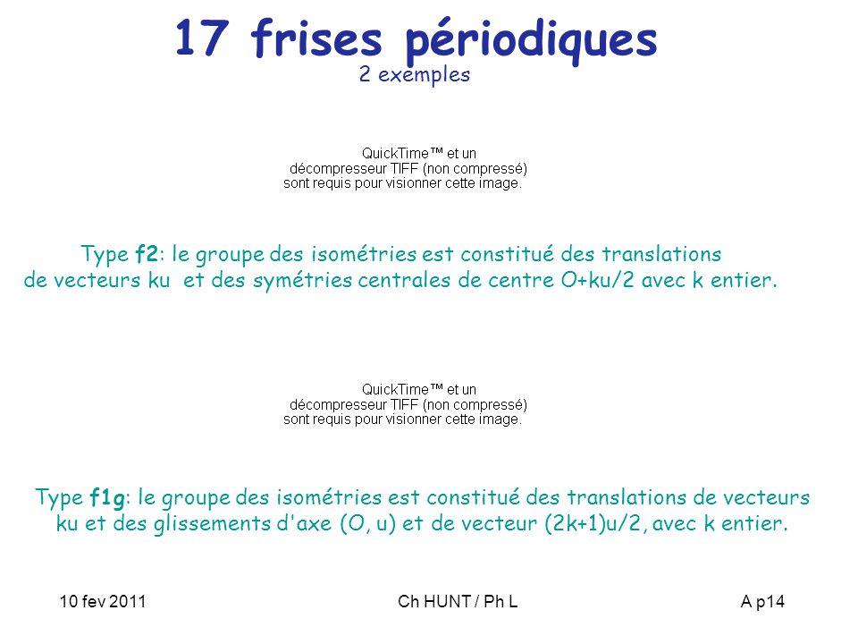 17 frises périodiques 2 exemples