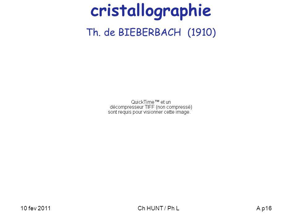 cristallographie Th. de BIEBERBACH (1910)