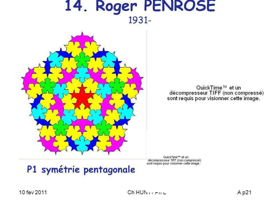 P1 symétrie pentagonale