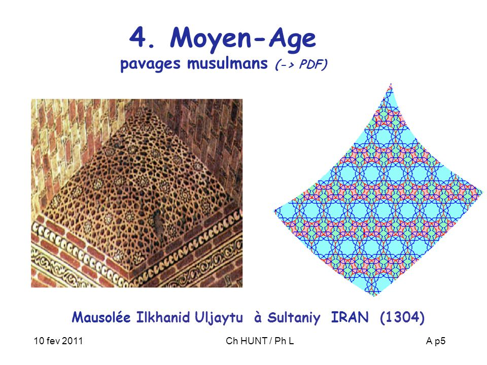 4. Moyen-Age pavages musulmans (-> PDF)