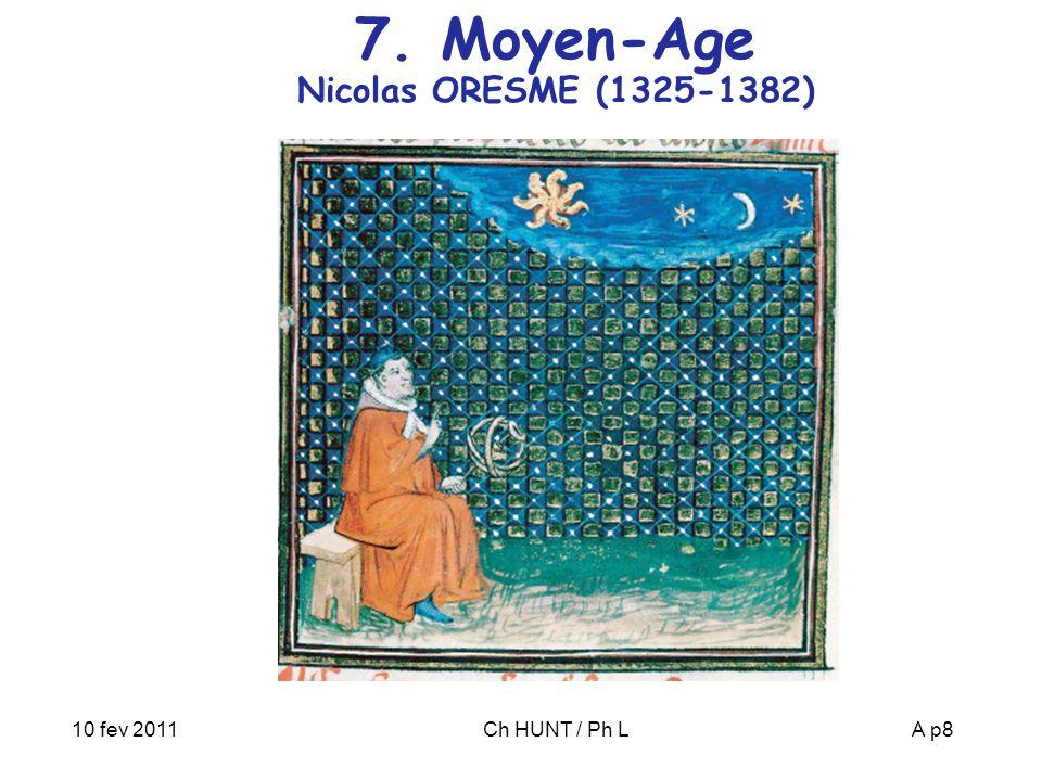 7. Moyen-Age Nicolas ORESME (1325-1382)