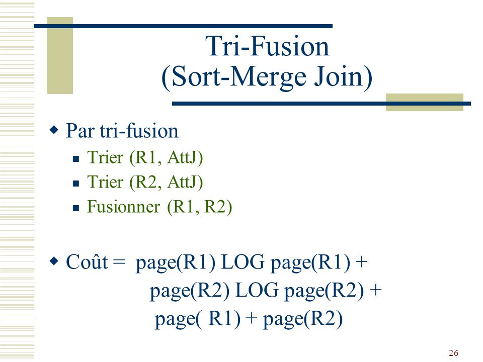 Tri-Fusion (Sort-Merge Join)