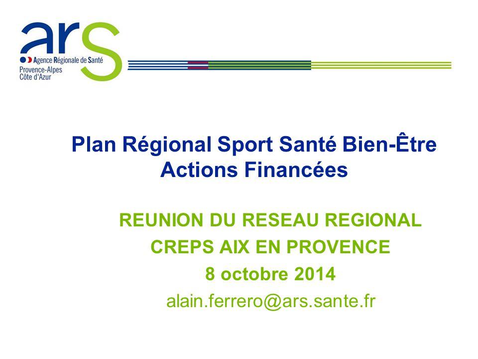 Plan Régional Sport Santé Bien-Être Actions Financées
