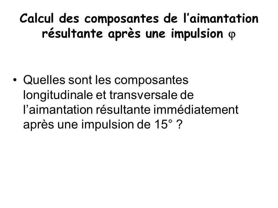 Calcul des composantes de l'aimantation résultante après une impulsion 