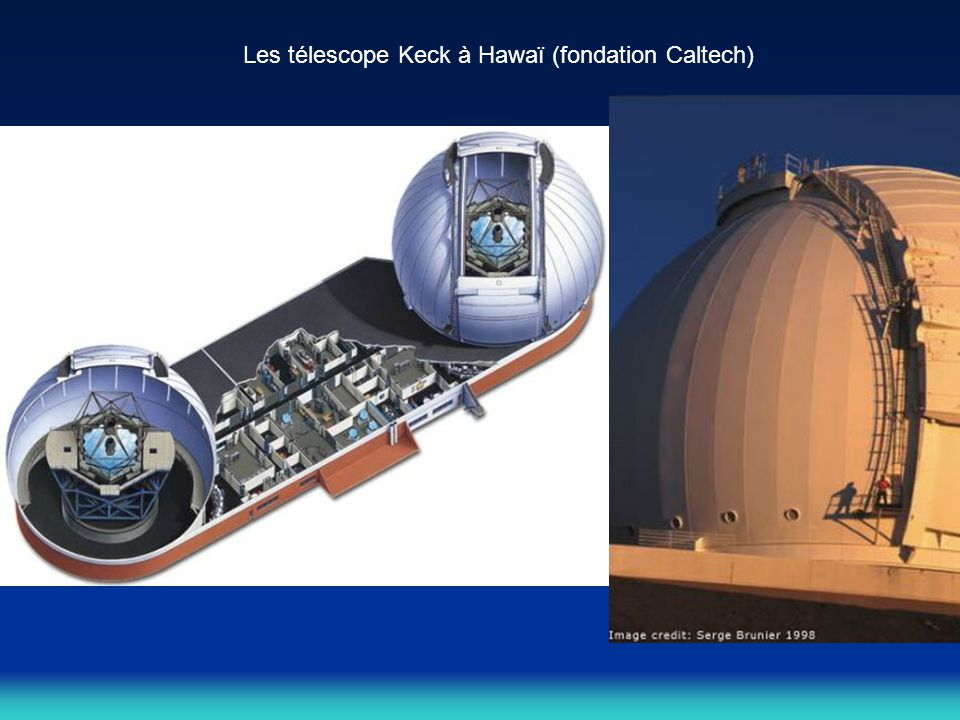 Les télescope Keck à Hawaï (fondation Caltech)