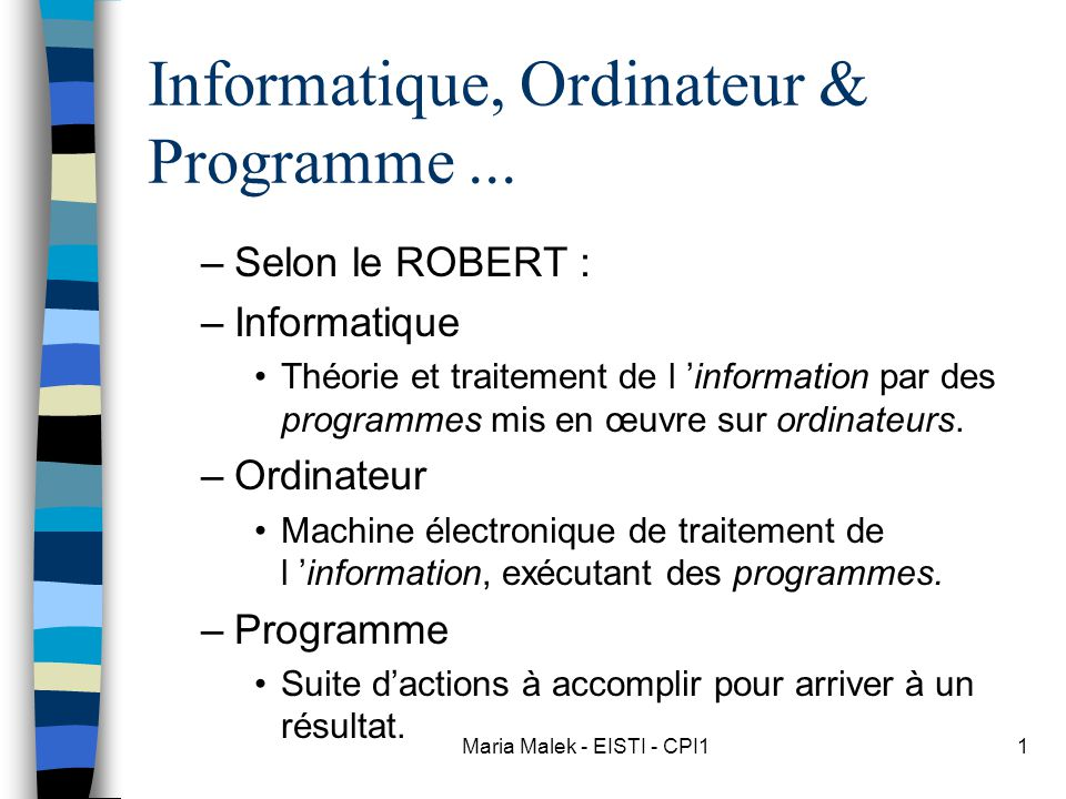 Informatique, Ordinateur & Programme ...