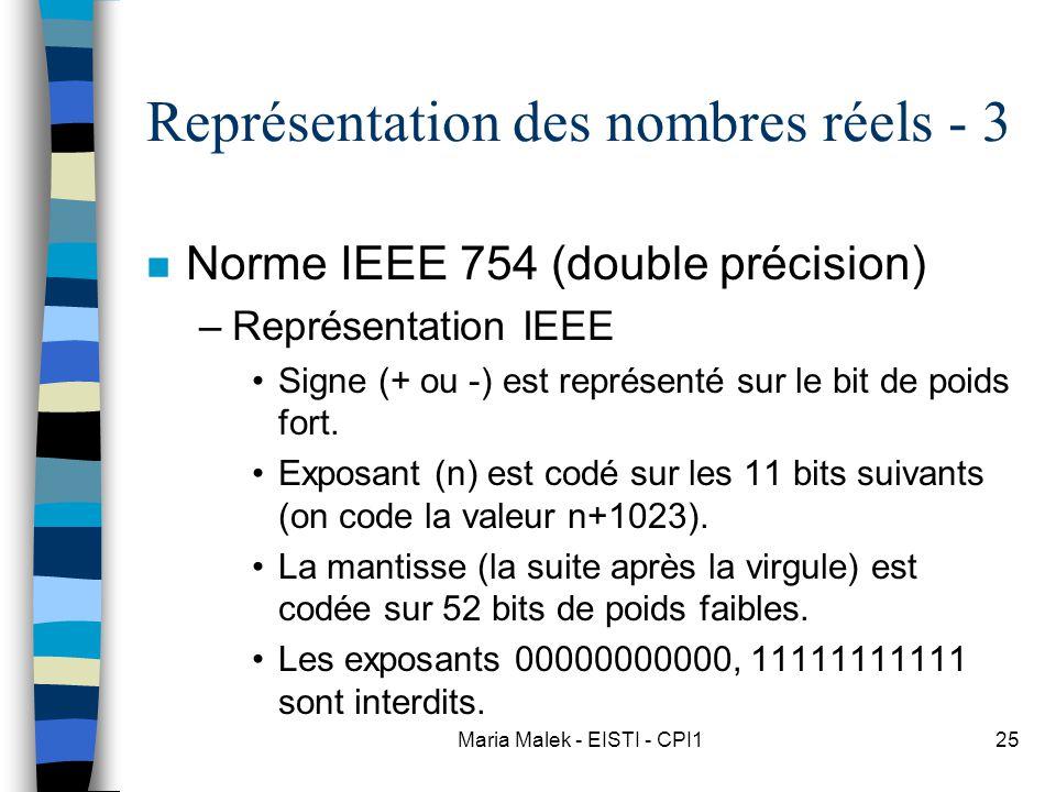 Représentation des nombres réels - 3